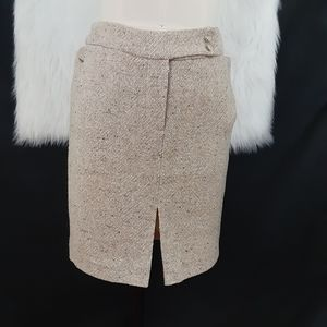 The Limited Wool Beige Skirt Size 6